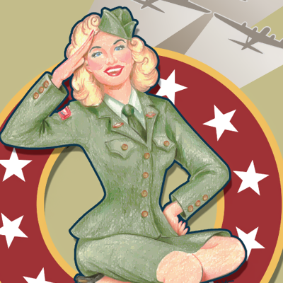 WWII USO Event Illustration